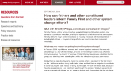 image shows screenshot of resource that birth fathers inform Family First and system change