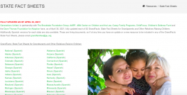 image shows text that reads: GrandFacts: State Fact Sheets for Grandparents and Other Relatives