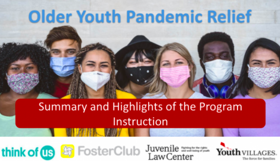 image shows text that reads: Older Youth Federal Guidance Webinar