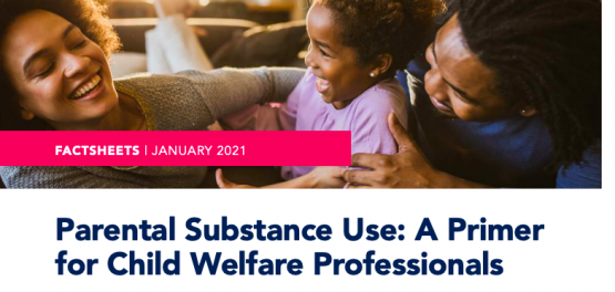 image shows text that reads: Factsheet Parental Substance a primer for child welfare professionals